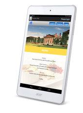 Silent Auction tablet menu view